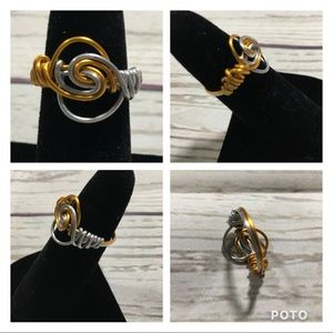 Wire wrapped handmade ring size 7